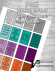 Free Printable Adult Planner / Journal Stickers