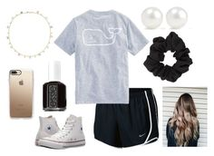 """""""im going to the movies tomorrow!!"""" by emmagswann ❤ liked on Polyvore featuring GHD, Converse, Kenneth Jay Lane, Casetify, Miss Selfridge, Marie Hélène de Taillac, NIKE, Vineyard Vines and Essie"""