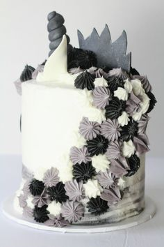 Manicorn cake back view