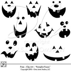 face ideas - Halloween Pumpkin Faces Ideas