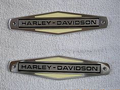 1966 thru1971 HARLEY EMBLEM Fuel Tank Nameplate repls oem 61771-66