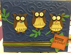 Owl happy bday card 2016 Front