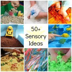 What to Use in Your Sensory Table | Over 50 Ideas for Sensory Play