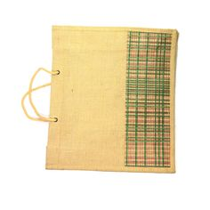 Beautiful Checks Border Print Eco Friendly Hand Made Jute Shopping Carry Bag  #Arishakreationco #HandBag