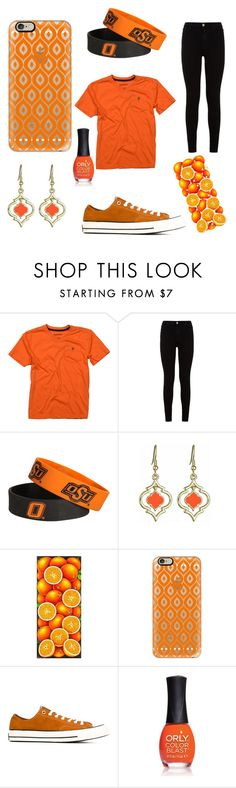 """""""Orange Fury"""" by jaguarwood ❤ liked on Polyvore featuring Tailor Vintage, 7 For All Mankind, Forever Collectibles, Fornash, NOVICA, Casetify, Converse, ORLY, BeYou and anascreations"""