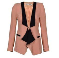 suit jackets for women | ... Korean Fashion Women V-Neck Casual Coat Jacket Suit Buttonless M $9.98