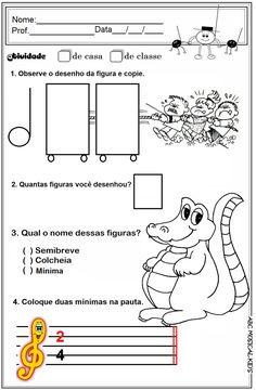 ATIVIDADES DE EDUCAÇÃO INFANTIL  E MUSICALIZAÇÃO INFANTIL: Atividades de musicalização infantil