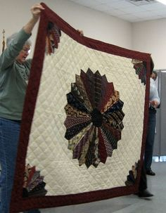 Quilt made with neck ties - I want to do this with my Dad's and Grandpa's ties.