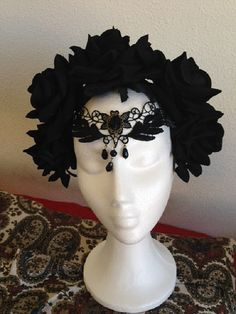 Black Rose and Lace Gothic Dark Romantic by NebulaXcrafts on Etsy, $61.00