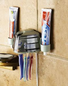 Germ Free Toothbrush Holder  Perfect. I've been looking for something like this for my guests at the condo.