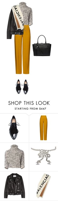 """Untitled #4073"" by michelanna on Polyvore featuring Loeffler Randall, ADAM, Brunello Cucinelli, Chanel, Acne Studios, Balenciaga and Witchery"