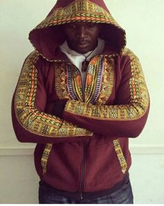 African/dashiki/unisex hoodies by on Etsy African Fashion Designers, African Inspired Fashion, African Men Fashion, African Women, Mens Fashion, Fashion Outfits, African Attire, African Wear, African Dress
