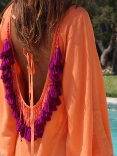 Trendy Beachwear for the Summer - Sundress by Bisc Village (mytenida - Flashmode Middle East Boho Chic, Bohemian Mode, Bohemian Gypsy, Boho Fashion Summer, Love Fashion, Trendy Fashion, Womens Fashion, Hippie Fashion, Fashion Brands