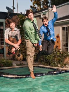 Still of Adam DeVine, Anders Holm and Blake Anderson in Workaholics