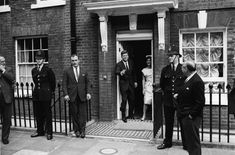 American President John F. Kenned and Jacqueline Kennedy leave the Admiralty House