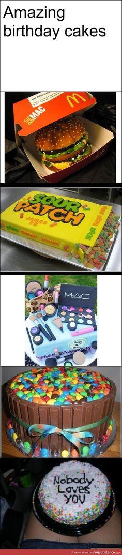 Amazing birthday cakes