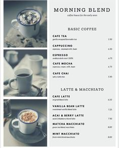 Coffee Shop Menu Template New top 37 Free & Low Cost Restaurant Menu Templates Drink Menu Design, Cafe Menu Design, Restaurant Menu Template, Restaurant Menu Design, Coffee Shop Menu, Coffee Cafe, Mint Coffee, Menue Design, Facebook E Instagram