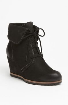 Biala Ashby Collared Wedge Booties Women's Black 43 | Shoes, Boots and Footwear
