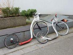 Scooter Bike, Kick Scooter, Push Bikes, Bike Ideas, Bike Art, Bicycle Design, Monuments, Bicycles, Fun Stuff