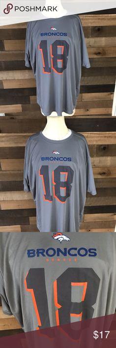 db8722f4ee Gray Peyton Manning Denver broncos shirt Xl Pre-owned NFL Denver Broncos  Peyton Manning men s