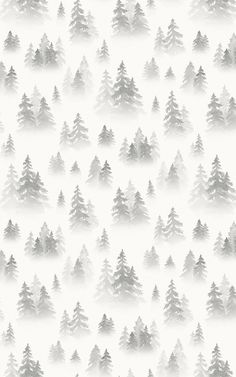 Create a relaxing misty forest scene in your space that's full of creative charm, with this Gray Watercolor Forest Tree Silhouette Wallpaper Mural. This bespoke hand-painted design has been created in-house, featuring fresh blue tones that are modern and stylish, perfect for introducing a natural theme to any living room, bathroom, bedroom and more. Tree Wallpaper Grey, Forest Wallpaper, Black And White Wallpaper, Wall Wallpaper, Pattern Wallpaper, Watercolor Wallpaper, Watercolor Walls, Painting Wallpaper, Watercolor Design