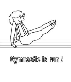 Olympic Gymnastics Coloring Pages