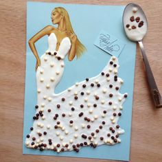 Yogurt & cereal dress by Edgar Artis