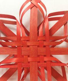 Sm Red #Ash #Woodland #Woven #Star #Ornament #Scandinavian by Baskauta27