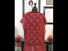 Crochet: Bluson (tipo Poncho) - YouTube