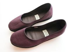 """The Generation: """"Handmade Eco - Chic Vegan Ballet Flats in Purple"""" comes in size 7 -10, totally cute"""