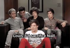 Haha the Louis/Niall relationship cracks me up...