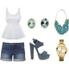 cute summer outfit  Capris please