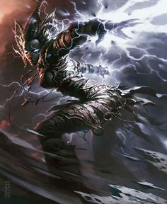 Staggershock art by Raymond Swanland