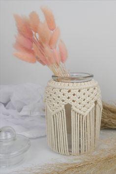 Knotty Tie, Modern Girls Rooms, Macrame Wall Hanging Patterns, Stills For Sale, Nursery Accessories, Macrame Design, Vase, Hanging Plants, Mason Jars