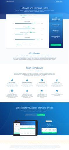 Loan calculator web service – SiteUp