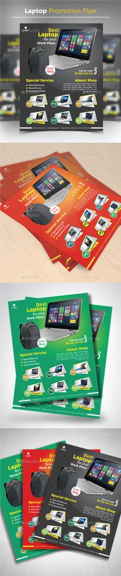 Laptop Promotion #Flyer - Commerce Flyers