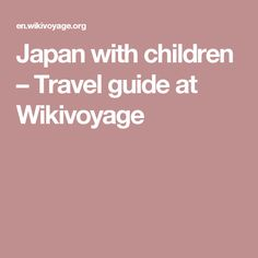 Japan with children