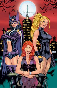 Huntress, Oracle, Black Canary *Clears Throat* OMG BIRDS OF PREY.. that is all XD