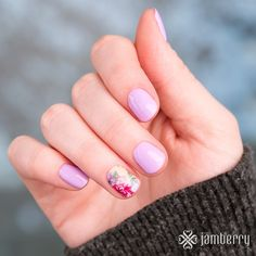 NEW JAMBERRY Gel Enamel:  She's Unavailable with nail wrap: Summer Cottage....SPRING 2016