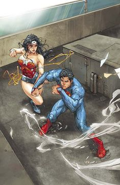Superman & Wonder Woman - Kenneth Rocafort - - favorite Superman artist