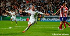 Seefio Ramos celebrando su gol decisivo ante el Atlético de Madrid en la final de Champions League de Lisboa 2014
