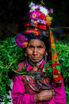 """Women of the Brokpa tribe in the remote Dahanu Valley. The valley is known as the """"Land of the Aryans"""" as the people there are considered th..."""