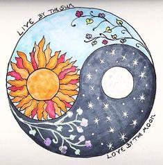 Sun and Moon Designs Tumblr | ... indie moon night stars live flowers sun yin and yang soft grunge