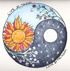 Sun and Moon Designs Tumblr | ... indie moon night stars live flowers sun yin and yang soft grunge