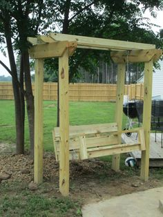 DIY Swing and Arbor (swing plans from from Ana White's site)