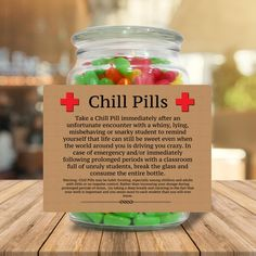 This listing is for a PNG file that lets you design and print your own chill pill labels. Chill Pills Label, Sticky Labels, Little Presents, Label Paper, Gag Gifts, Funny Gifts, Funny Secret Santa Gifts, Staff Gifts, Funny Presents