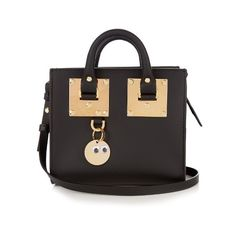Sophie Hulme Mini Albion box leather cross-body bag (32.370 RUB) ❤ liked on Polyvore featuring bags, handbags, shoulder bags, black, leather shoulder bag, mini shoulder bag, crossbody shoulder bags, leather cross body handbags and leather crossbody