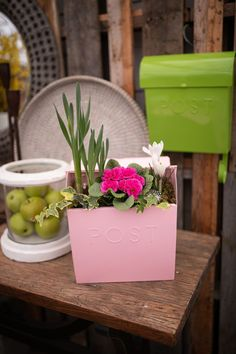 The best thing you'll find in the mail for a long time! Wow! This adorable pink mailbox is overflowing with Spring blooms, tucked in with moss. The perfect addition to your doorstep or front patio. After Spring is over, you can replant it up with new blooms OR empty out the soil and use it as your mailbox! You'll love getting the post every day (even junk mail won't seem as bad!) www.westcoastgardens.ca Women's Day Spring Blooms, Spring Flowers, Flowering Plants, Planting Flowers, Mailbox Planter, Plant Order, Junk Mail, Replant, Romantic Homes