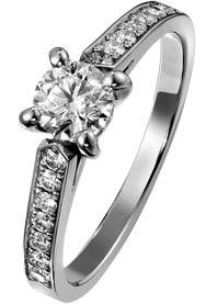 プラチナ製ダイヤモンド付きエンゲージリング- ピアジェ G34LK700