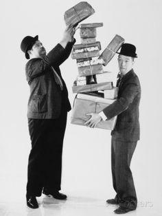 Oliver Hardy, Stan Laurel Fotodruck